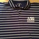 Fairway & Greene Pureformance Navy /White Stripe Cotton Golf Polo Shirt XL