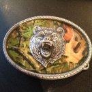 New Camouflage Bear Belt Buckle