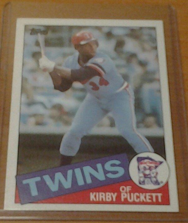 KIRBY PUCKETT Minnesota Twins 1985 Topps rookie card