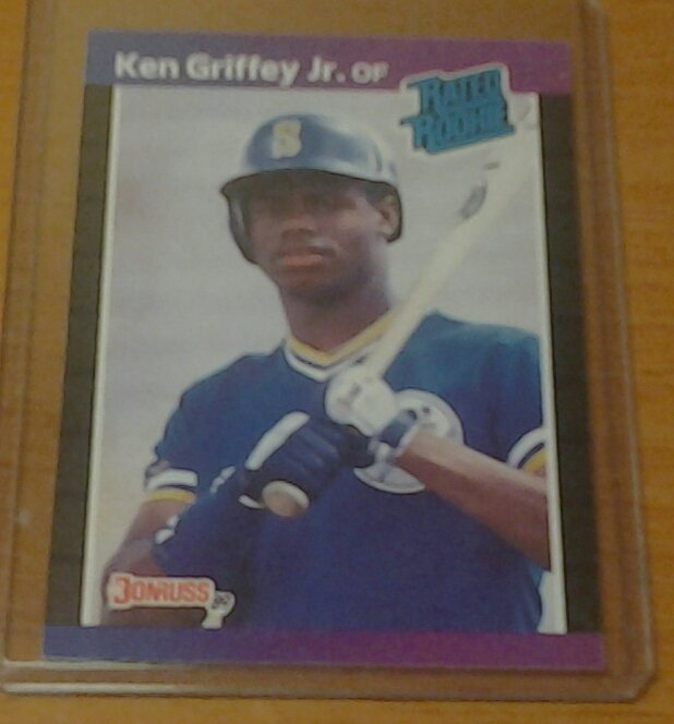 Lot Of 5 Rookie Baseball Cards With Ken Griffey Jr 1989: KEN GRIFFEY JR. Seattle Mariners 1989 Donruss Rookie Card