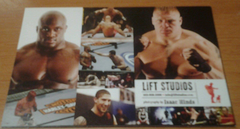 UFC MMA Lesnar/Lashley/hot chick nice little 2-sided promo card WWE