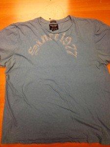 "AMERICAN EAGLE ""Since 1977"" blue tee shirt mens XL"