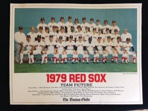 Original Boston Globe 1979 Red Sox team picture photo Rice Yaz Fisk Lynn Remy