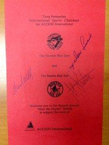 1990 Toronto Blue Jays Event Program autographed signed AL LEITER Yankees Mets
