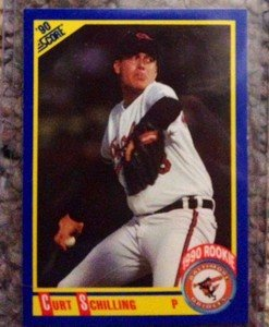 CURT SCHILLING Orioles Red Sox 1990 Score rookie card