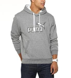 NWT PUMA gray grey hooded fleece hoodie mens XL Reg $50