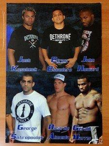 UFC MMA 9x13 DETHRONE glossy promo Kos, Escudero, Doomsday, Sot, Almeida, Harris