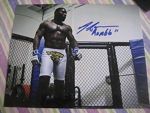 """UFC MMA ANTHONY """"Rumble"""" JOHNSON autographed signed 8x10 photo"""