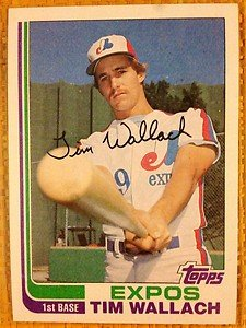 TIM WALLACH Montreal Expos 1982 Topps rookie card