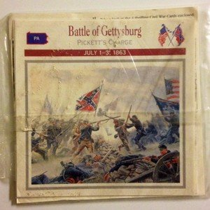 NEW IN PACKAGE Sample 4 collectible informative Civil War cards