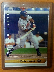 KIRBY PUCKETT Minnesota Twins 1993 Upper Deck Home Run Heroes card