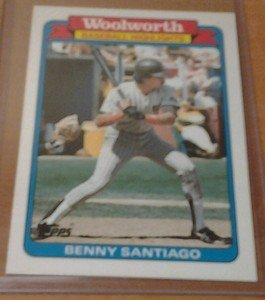 BENITO BENNY SANTIAGO Padres 1988 Topps Woolworth card