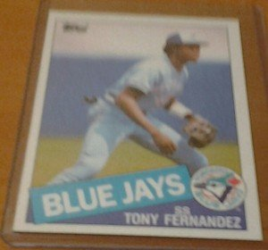 TONY FERNANDEZ Blue Jays 1985 Topps card