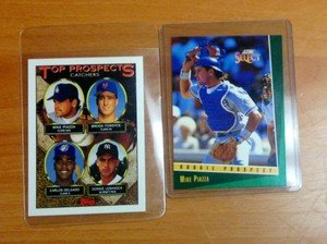 2 MIKE PIAZZA Los Angeles Dodgers Mets rookie cards 1993 Score Select & Topps