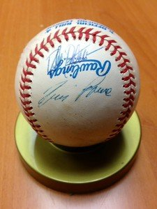 1991 Chicago White Sox autographed signed OAL baseball TIM RAINES Expos Yankees