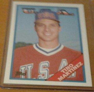 TINO MARTINEZ Team USA Yankees 1988 Topps Traded rookie card