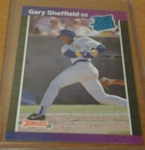 GARY SHEFFIELD Brewers Yankees 1989 Donruss rookie card