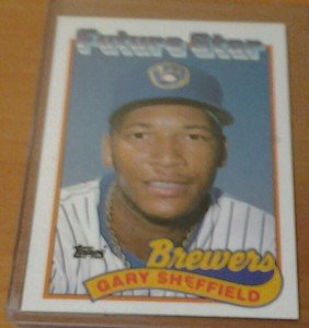 GARY SHEFFIELD Brewers Yankees 1989 Topps rookie card