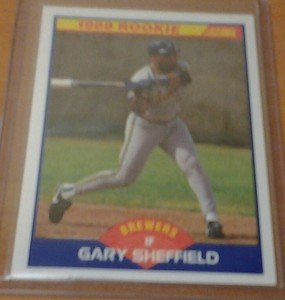 GARY SHEFFIELD Brewers Yankees 1989 Score rookie card