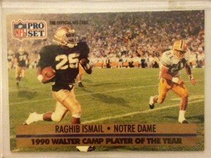 Raghib Rocket Ismail Notre Dame 1991 Pro Set rookie card