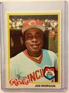 JOE MORGAN Reds 1978 Topps card