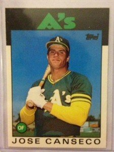 JOSE CANSECO Oakland A's 1986 Topps Traded rookie card