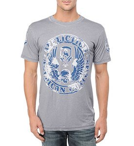 NWT AFFLICTION Master Customs silver tee shirt mens Large