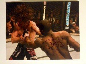UFC MMA DIN THOMAS autographed signed 8x10 photo