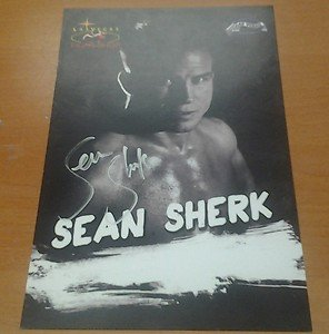 Former UFC Champ SEAN SHERK autographed signed 6x8 LV Fight Shop promo photo MMA