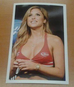 UFC MMA Octagon Girl BRITTNEY PALMER looks up hot sexy 4x6 photo