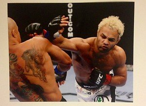 UFC MMA JOSH KOSCHECK right hand 8x10 photo