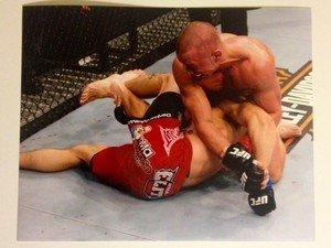 UFC MMA GEORGES ST-PIERRE GSP Kimura on Hardy 8x10 photo