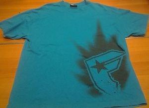 FAMOUS SAS blue teal aqua tee shirt mens XL