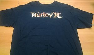 HURLEY navy blue tee shirt mens XL