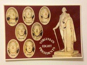 NEW UNUSED post card Virginia's Eight Presidents 1