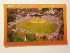 NEW UNUSED post card Baseball Hall of Fame Doubleday Field 1