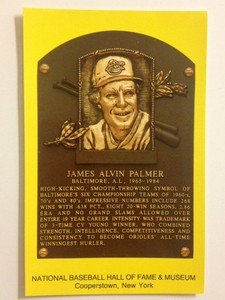 NEW UNUSED post card Baseball Hall of Fame Jim Palmer Orioles plaque