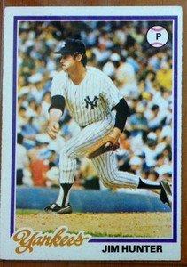 Jim Catfish Hunter Yankees 1978 Topps card
