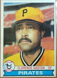CLARENCE CITO GASTON Pirates Blue Jays 1979 Topps card
