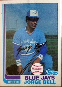 JORGE GEORGE BELL Blue Jays 1982 Topps rookie card