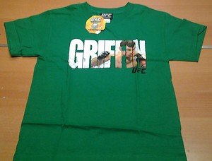 NWT UFC FORREST GRIFFIN green tee shirt mens Small MMA