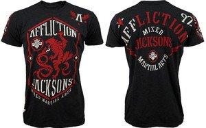 NWT AFFLICTION Jackson's MMA tee shirt black mens XL UFC