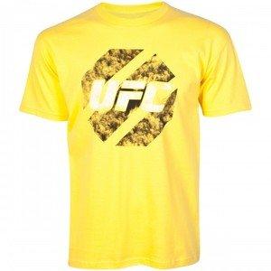 UFC Eroded yellow tee shirt mens XL MMA
