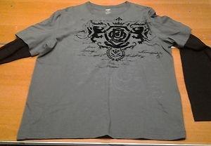 NO BOUNDARIES dark gray/black long sleeve tee shirt mens Large UFC MMA