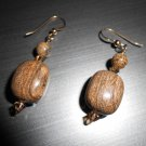 Brown Stone Drop Earrings