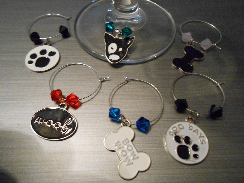 Dog Wine Glass Charms