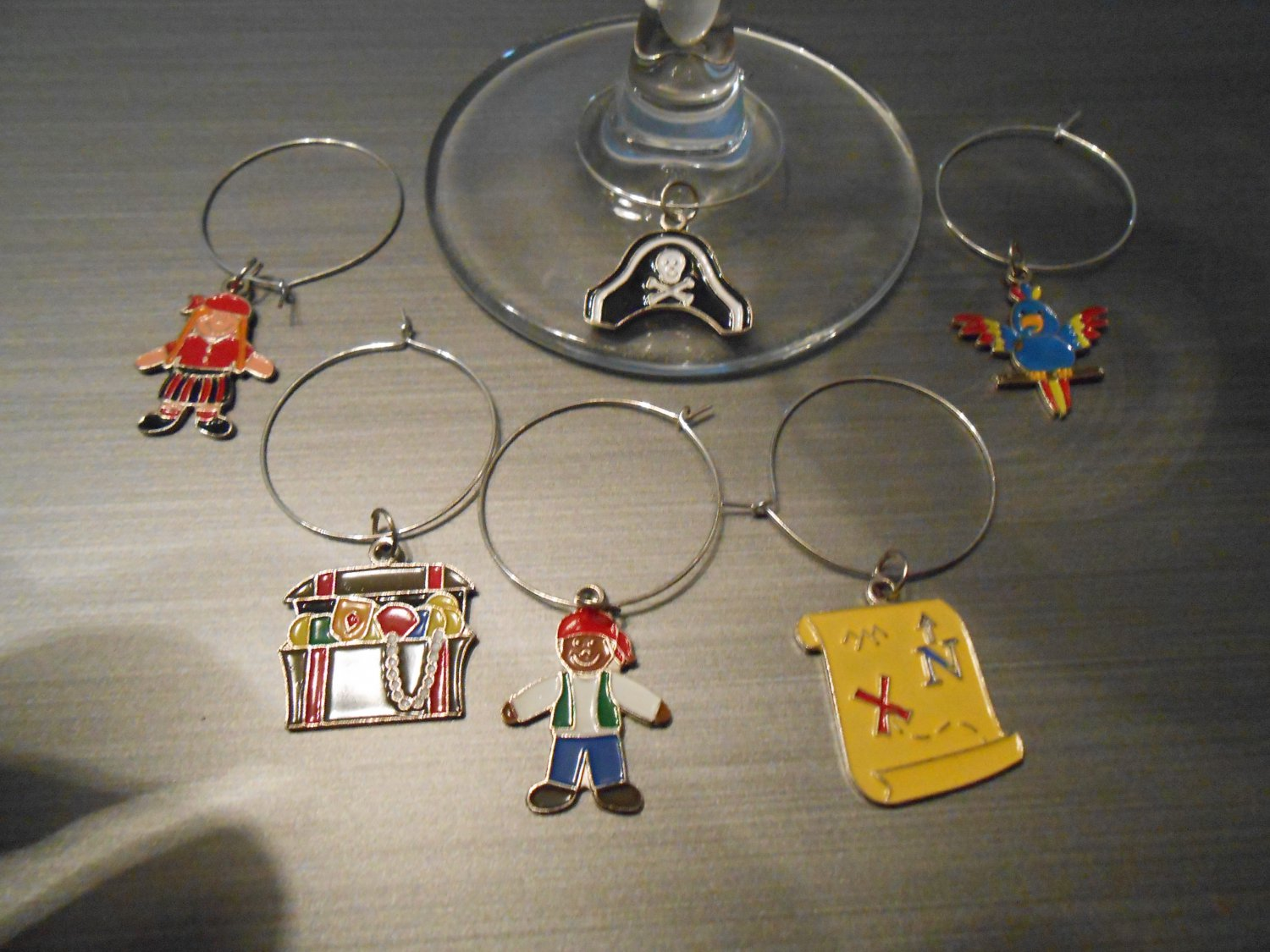 Pirate Wine Glass Charms