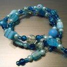 Blue Beaded Memory Bracelet