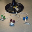 Sports Wine Glass Charms