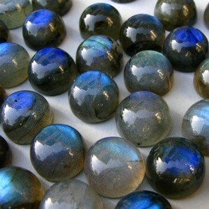 Certified  Lot Of 10 Pieces Labradorite 8 M.M. Round Loose Cabochons calibrated